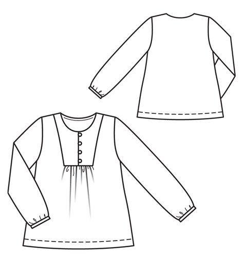 Girls Tunic 60 Sewing Patterns BurdaStyle Stunning Tunic Pattern Free