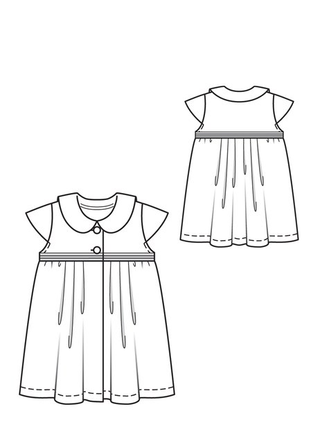 Pleated Baby Dress 07/2012 #145 – Sewing Patterns | BurdaStyle.com