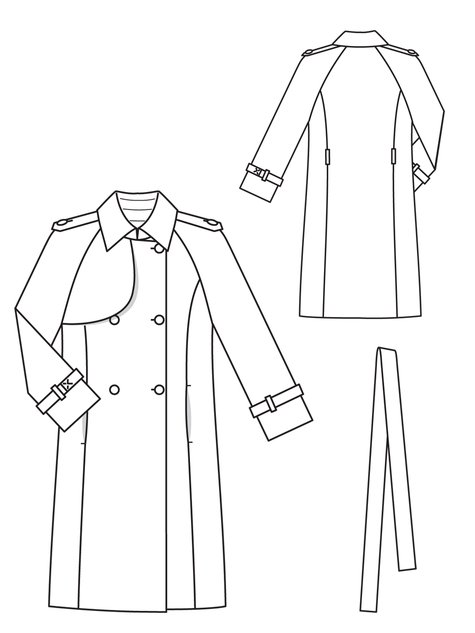 Trench Coat 4040 40 Sewing Patterns BurdaStyle Extraordinary Coat Pattern