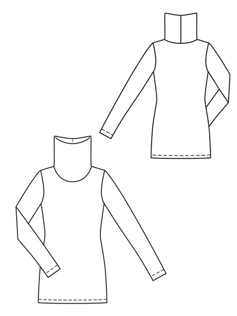 Turtleneck 09/2012 #104B – Sewing Patterns | BurdaStyle.com