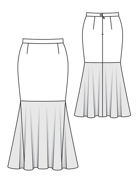 Mermaid Skirt (Plus Size) 10/2012 #147 – Sewing Patterns ...