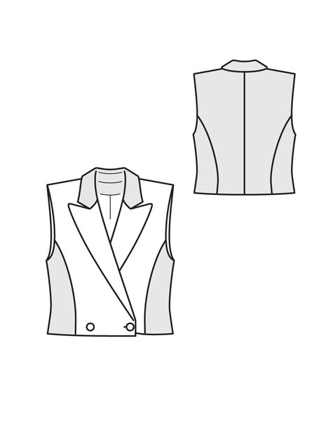 Double Breasted Vest 09/2012 #131 – Sewing Patterns | BurdaStyle.com