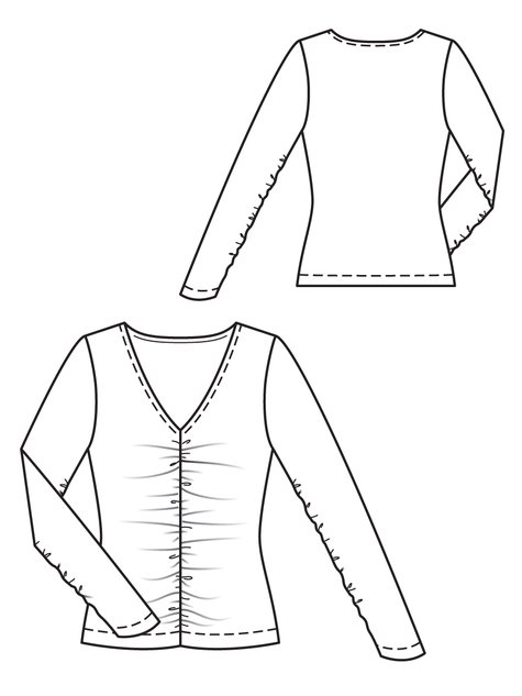 Rouched Top 10/2012 #114A – Sewing Patterns | BurdaStyle.com
