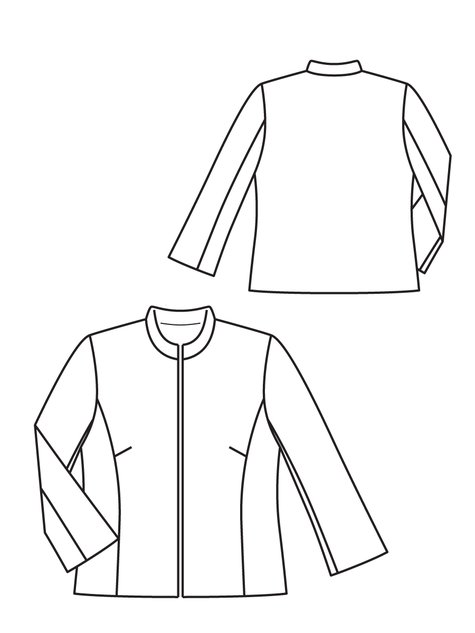 Leather Jacket 10/2012 #123 – Sewing Patterns | BurdaStyle.com