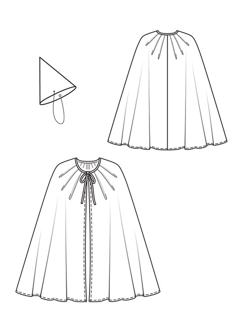Wizard Cape And Hat 602600 60 Sewing Patterns BurdaStyle Custom Kids Cape Pattern