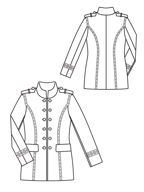 Military Jacket 10/2012 #106 – Sewing Patterns | BurdaStyle.com