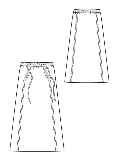 Drawstring Maxi-Skirt 10/2012 #105