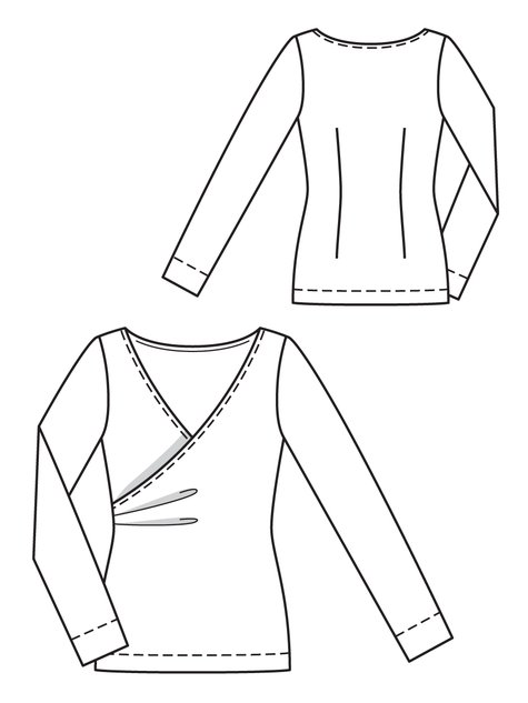 Wrapped Top 10/2012 #119 – Sewing Patterns | BurdaStyle.com