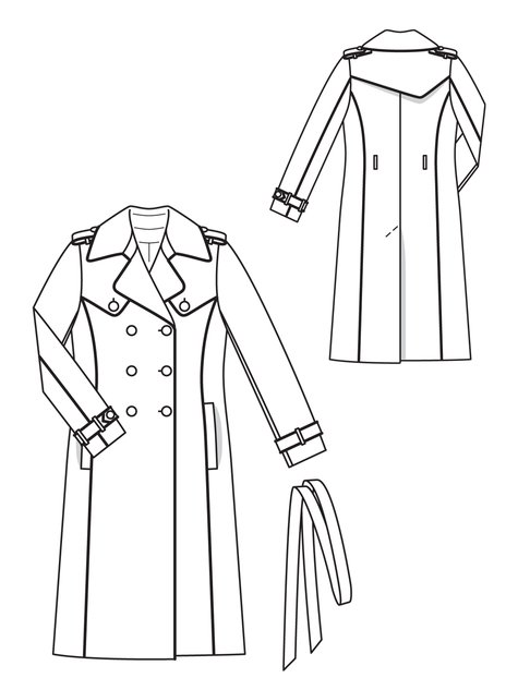 Piped Trench Coat 11/2012 #118