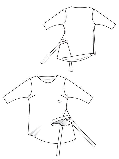Side Tie Top (Plus Size) 11/2012 #141
