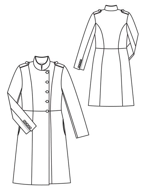 Long Wool Coat 12 2012 104 Sewing Patterns Burdastyle Com