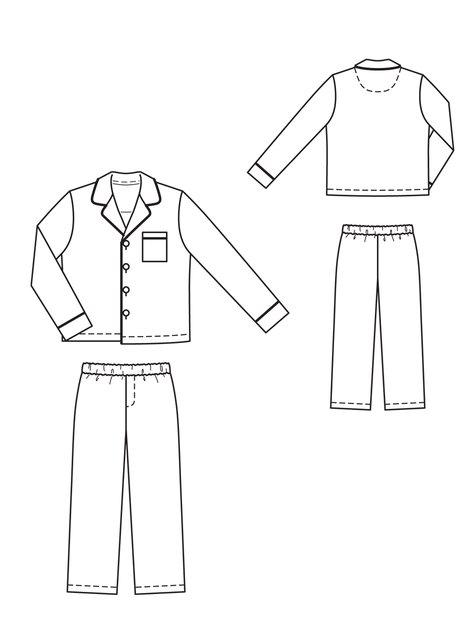 drawstring pajama pants printable pdf