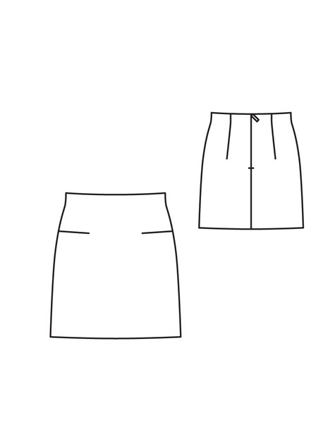 Plaid Mini Skirt 122010 123b Sewing Patterns Burdastyle