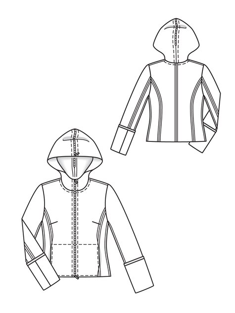 Hooded Sport Jacket 12 2012 139 Sewing Patterns Burdastyle Com