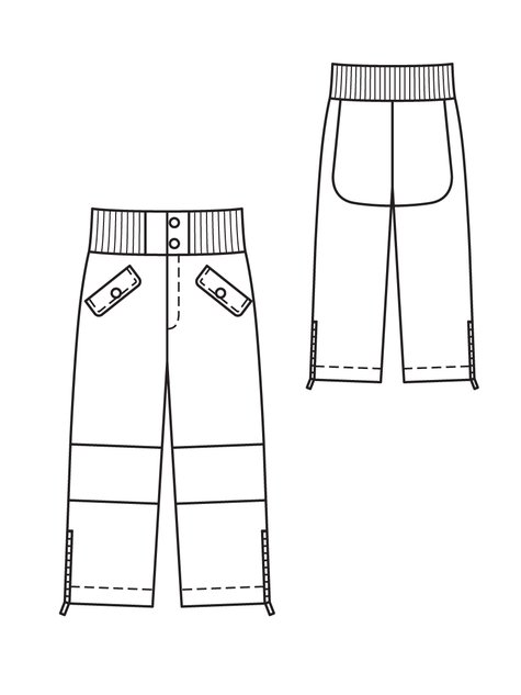 0fd130bcc Children s Snow Pants 11 2011  140 – Sewing Patterns