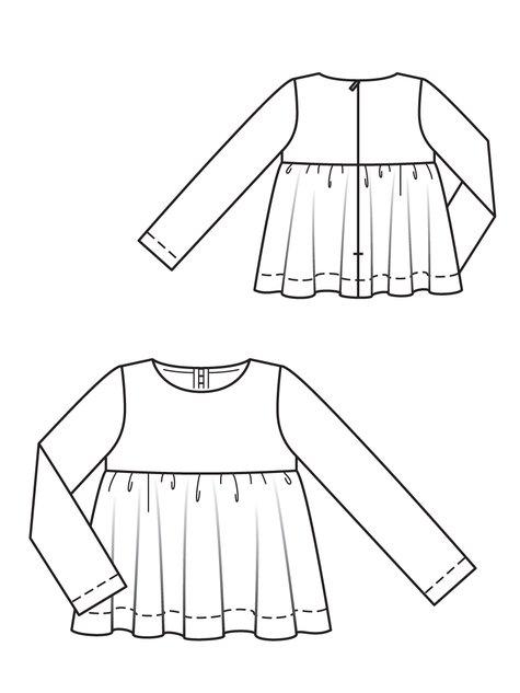 Girl's Printed Blouse 10/2011 #150