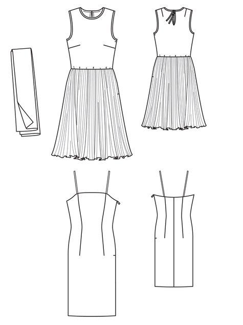 Chiffon Dress 01/2013 #108 – Sewing Patterns | BurdaStyle.com