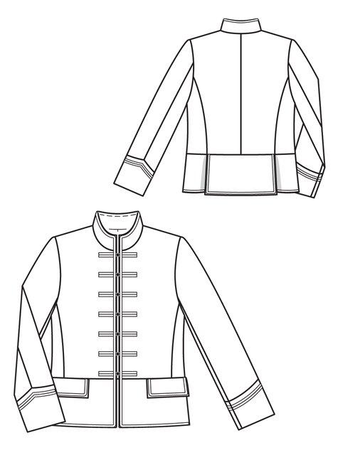 Men's Velvet Jacket 402403 40 Sewing Patterns BurdaStyle Extraordinary Mens Coat Patterns