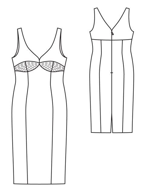 Princess Seam Dress Plus Size 4040 40 Sewing Patterns Cool Princess Seam Dress Pattern