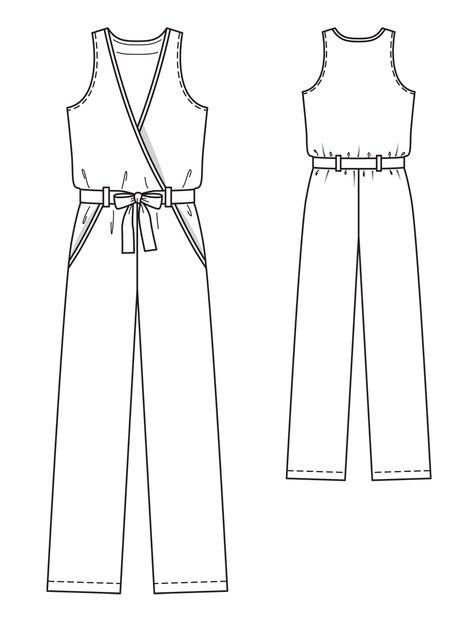 Sleeveless Jumpsuit 022013 124 Sewing Patterns Burdastyle