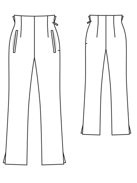 High Waist Trousers 02/2013 #119 – Sewing Patterns | BurdaStyle.com