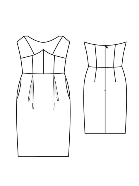 Strapless Dress Sewing Patterns Gallery - origami instructions easy ...