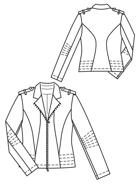 Biker Jacket 032013 135 Sewing Patterns Burdastyle