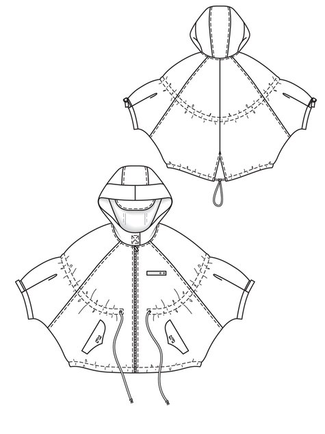 Drawstring Cape 03/2013 #119A – Sewing Patterns | BurdaStyle.com