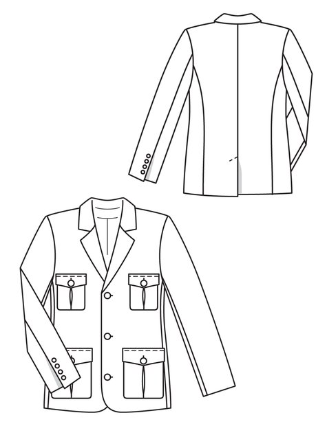 Men's Jacket 4040 40 Sewing Patterns BurdaStyle Mesmerizing Mens Coat Patterns