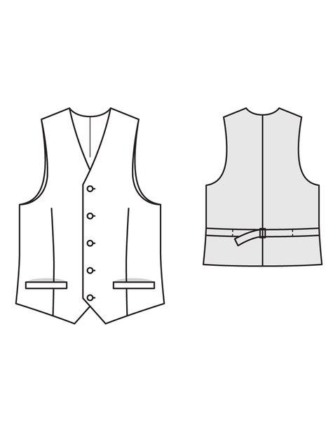 Men's Waistcoat 4040 40 Sewing Patterns BurdaStyle Best Mens Vest Pattern Free