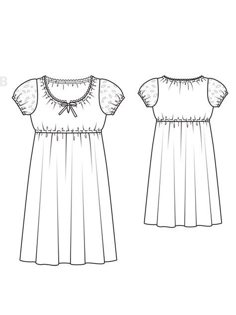 Empire Dress (Plus Size) 04/2013 #129B – Sewing Patterns ...