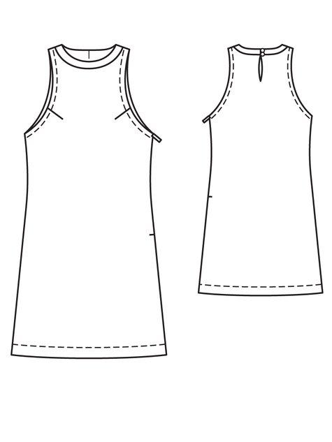 Shift Dress 4040 40A Sewing Patterns BurdaStyle Awesome Shift Dress Pattern