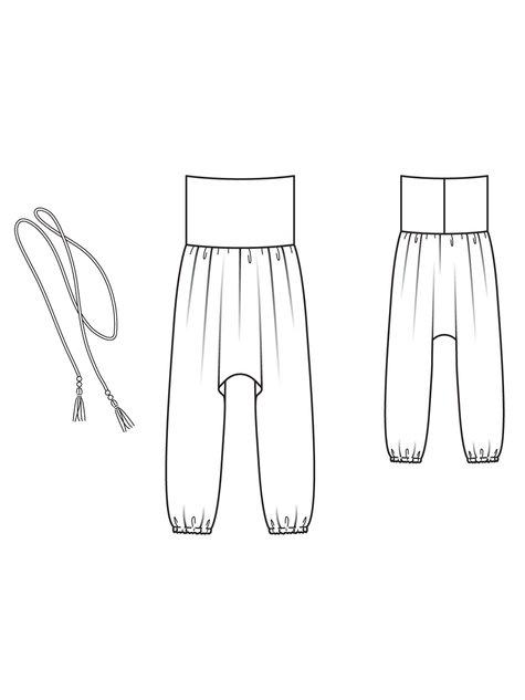 Girl\'s Harem Pants 05/2013 #144 – Sewing Patterns | BurdaStyle.com