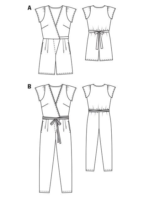 Long Wrap Jumpsuit 05/2013 #129B – Sewing Patterns | BurdaStyle.com