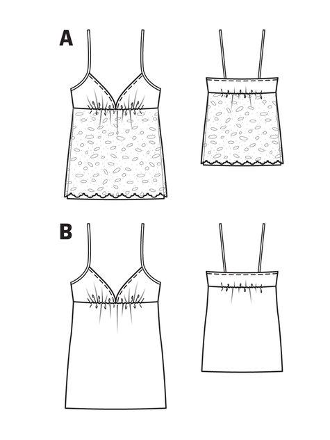 Spaghetti Strap Camisole 07/2013 #115A – Sewing Patterns ...