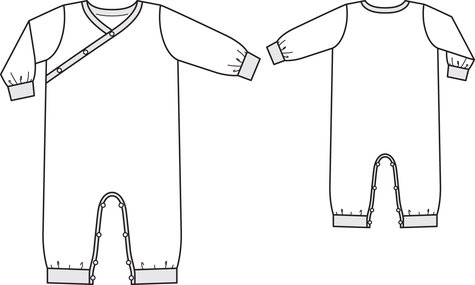 Criss Cross Onesie 09/2013 #145 – Sewing Patterns | BurdaStyle.com