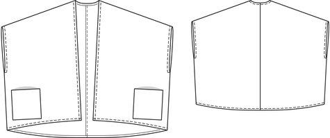 Poncho with Pockets (Plus Size) 09/2013 #131