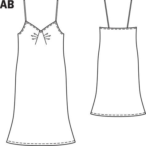Slip Dress 09/2013 #114A – Sewing Patterns | BurdaStyle.com