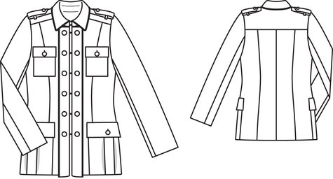 Military Coat 08/2011 #102 – Sewing Patterns | BurdaStyle.com