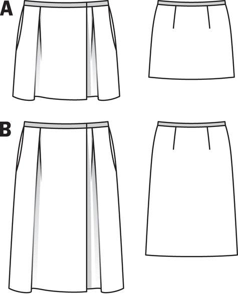 Pleated Midi Skirt 08/2011 #118B – Sewing Patterns   BurdaStyle.com