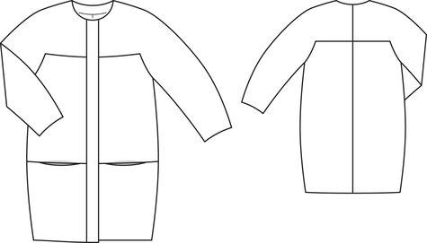 Cocoon Coat 6060 603 Sewing Patterns BurdaStyle Extraordinary Coat Pattern