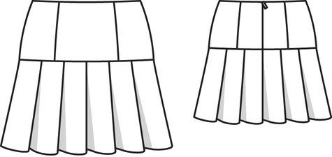Pleated Mini Skirt 10/2013 #120