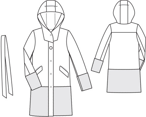 Hooded Coat 10 2013 125 Sewing Patterns Burdastyle Com