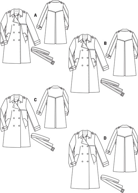 Gabardine Trenchcoat 4040 40B Sewing Patterns BurdaStyle Magnificent Mens Trench Coat Pattern
