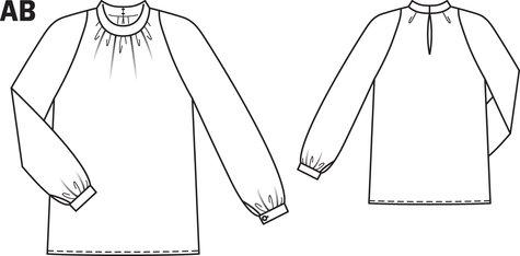 Back Keyhole Blouse 11/2013 #103A