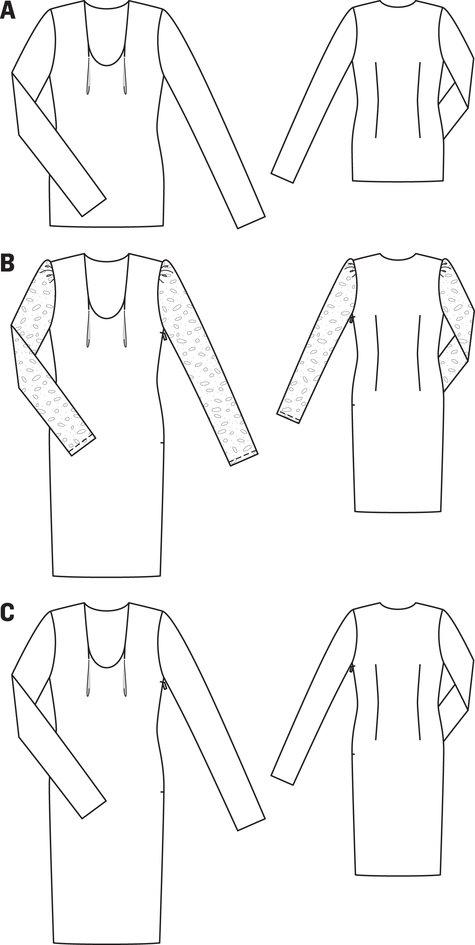 U Neck Dress 04/2012 #103C