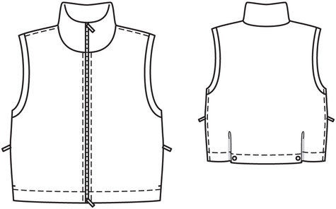 puffy vest 01 2010 112 sewing patterns burdastyle com