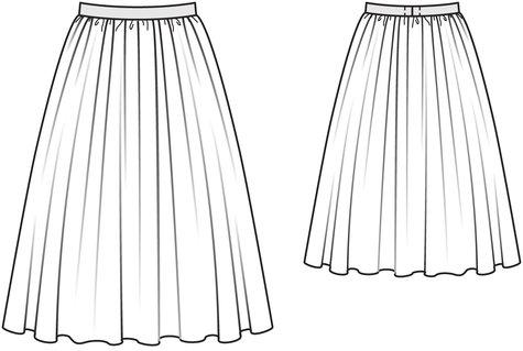 Gathered Full Skirt 4040 40 Sewing Patterns BurdaStyle Custom Full Skirt Pattern