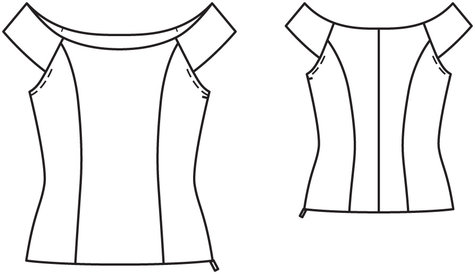 Princess Seam Boatneck Top 022014 104 Sewing Patterns