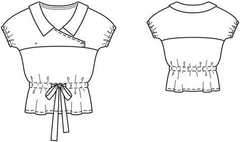 Short Sleeve Wrap Blouse 04/2014 #122
